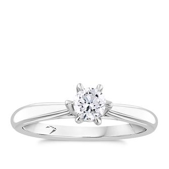 Arctic Light 18ct White Gold 0.30ct Diamond Solitaire Ring - Product number 2303892