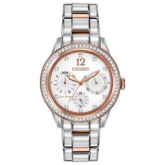 f871a818412e3a Citizen Eco Drive Ladies' Crystal Set Two Tone Watch - Product number  2305550