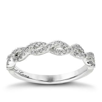 Neil Lane Designs 14ct White Gold 0.27ct Diamond Twist Band - Product number 2307979