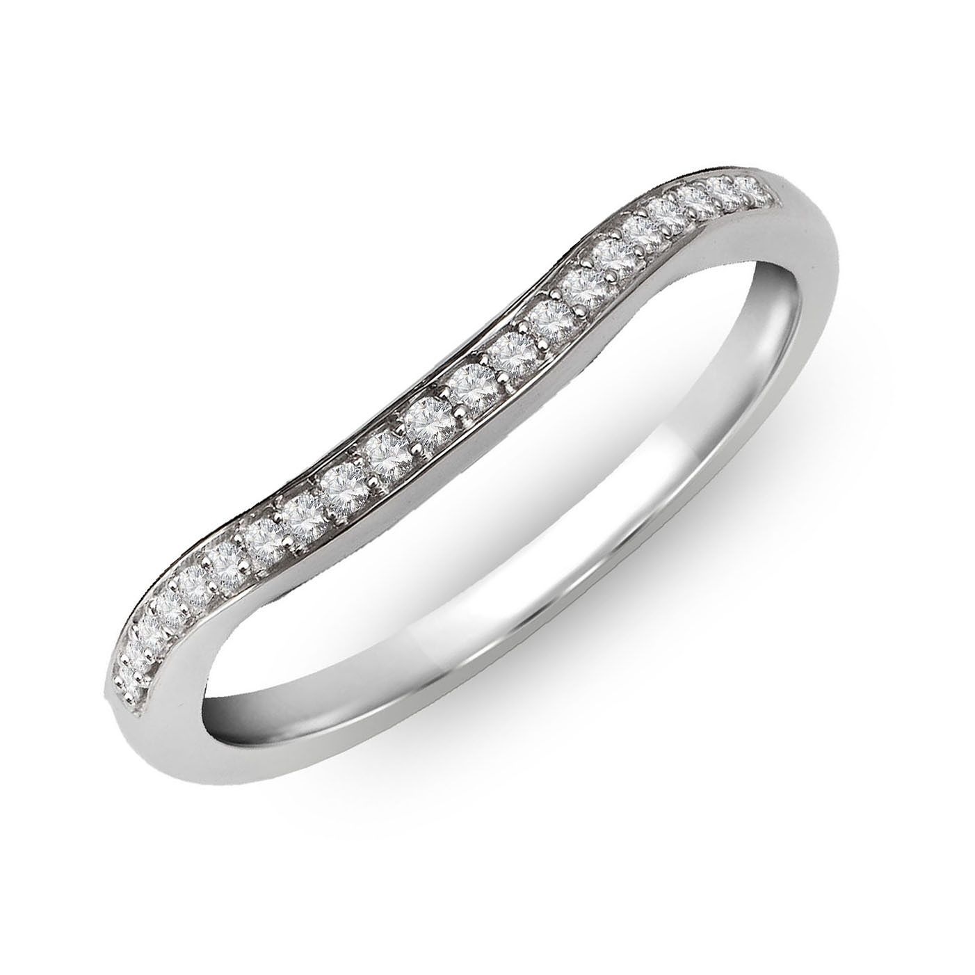 Perfect Fit 18ct White Gold & Diamond Wave Eternity Ring - Product number 2310139