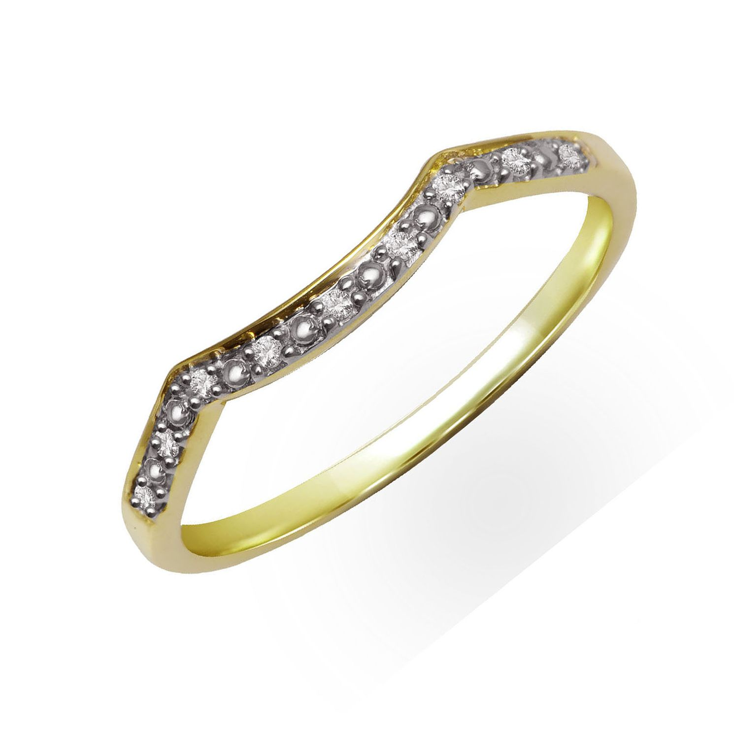 Perfect Fit 9ct Yellow Gold & Diamond Smile Eternity Ring - Product number 2310880