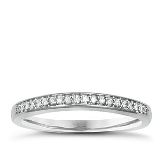Palladium & Diamond Perfect Fit Eternity Ring - Product number 2311283