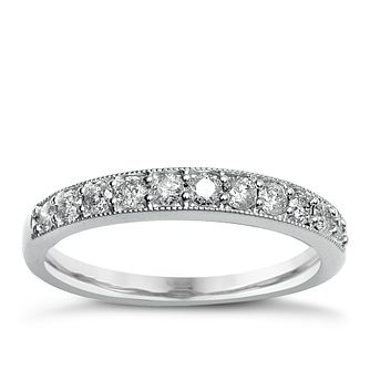 Perfect Fit 9ct White Gold Diamond Twist Eternity Ring - Product number 2312360