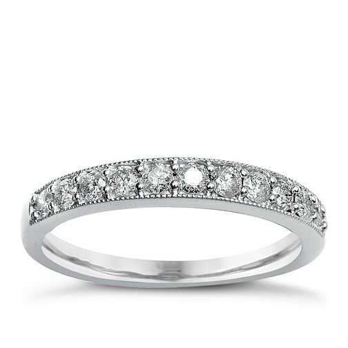 9ct White Gold & Diamond Perfect Fit Eternity Ring - Product number 2312360