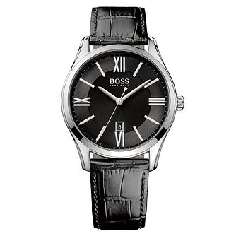 BOSS men's black leather strap watch - Product number 2319055