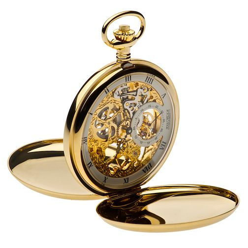 Jean Pierre men's gold-plated skeleton pocket watch - Product number 2322404