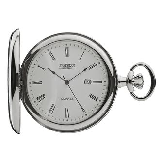 Jean Pierre Men's Chrome-Plated Pocket Watch - Product number 2322420