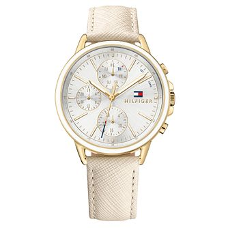 Tommy Hilfiger Carly Ladies' Nude Leather Strap Watch - Product number 2322927