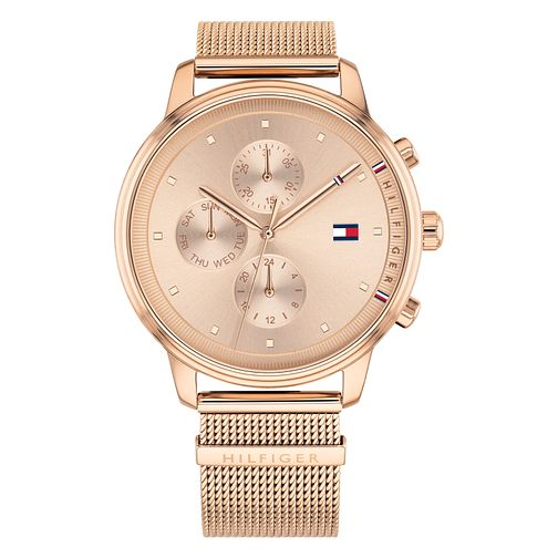 Tommy Hilfiger Blake Ladies' Rose Gold Plated Bracelet Watch - Product number 2323125