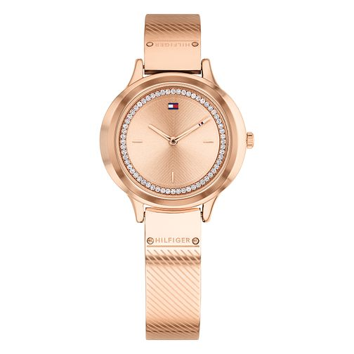 Tommy Hilfiger Olivia Ladies' Rose Gold Plated Bangle Watch - Product number 2323168