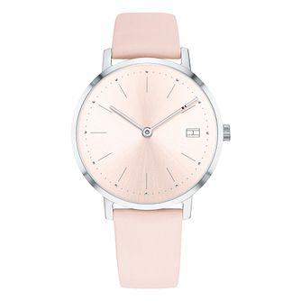 Tommy Hilfiger Pippa Ladies' Pink Leather Srrap Watch - Product number 2323249