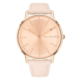 Tommy Hilfiger Pippa Ladies' Blush Leather Strap Watch - Product number 2323273