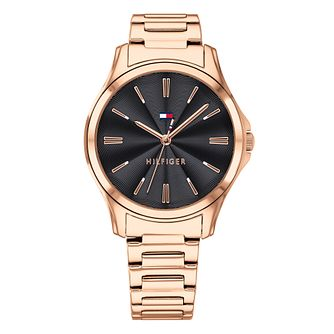 Tommy Hilfiger Lori Ladies' Rose Gold Plated Bracelet Watch - Product number 2323281
