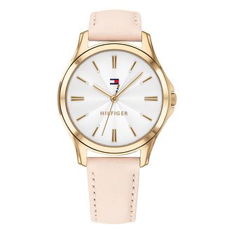 Tommy Hilfiger Lori Ladies' Blush Leather Strap Watch - Product number 2323370