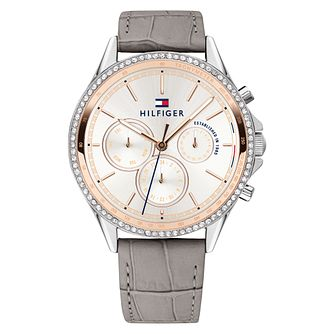 Tommy Hilfiger Ari Ladies' Grey Leather Strap Watch - Product number 2323575