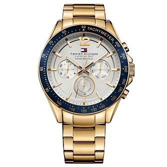 Tommy Hilfiger Luke Men's Yellow Gold Plated Bracelet Watch - Product number 2323745