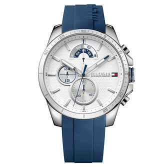 Tommy Hilfiger Decker Men's Navy Silicone Strap Watch - Product number 2323885