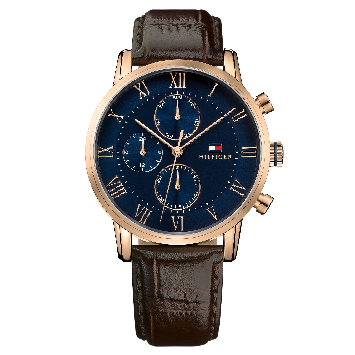 Tommy Hilfiger Kane Men's Brown Leather Strap Watch - Product number 2323974