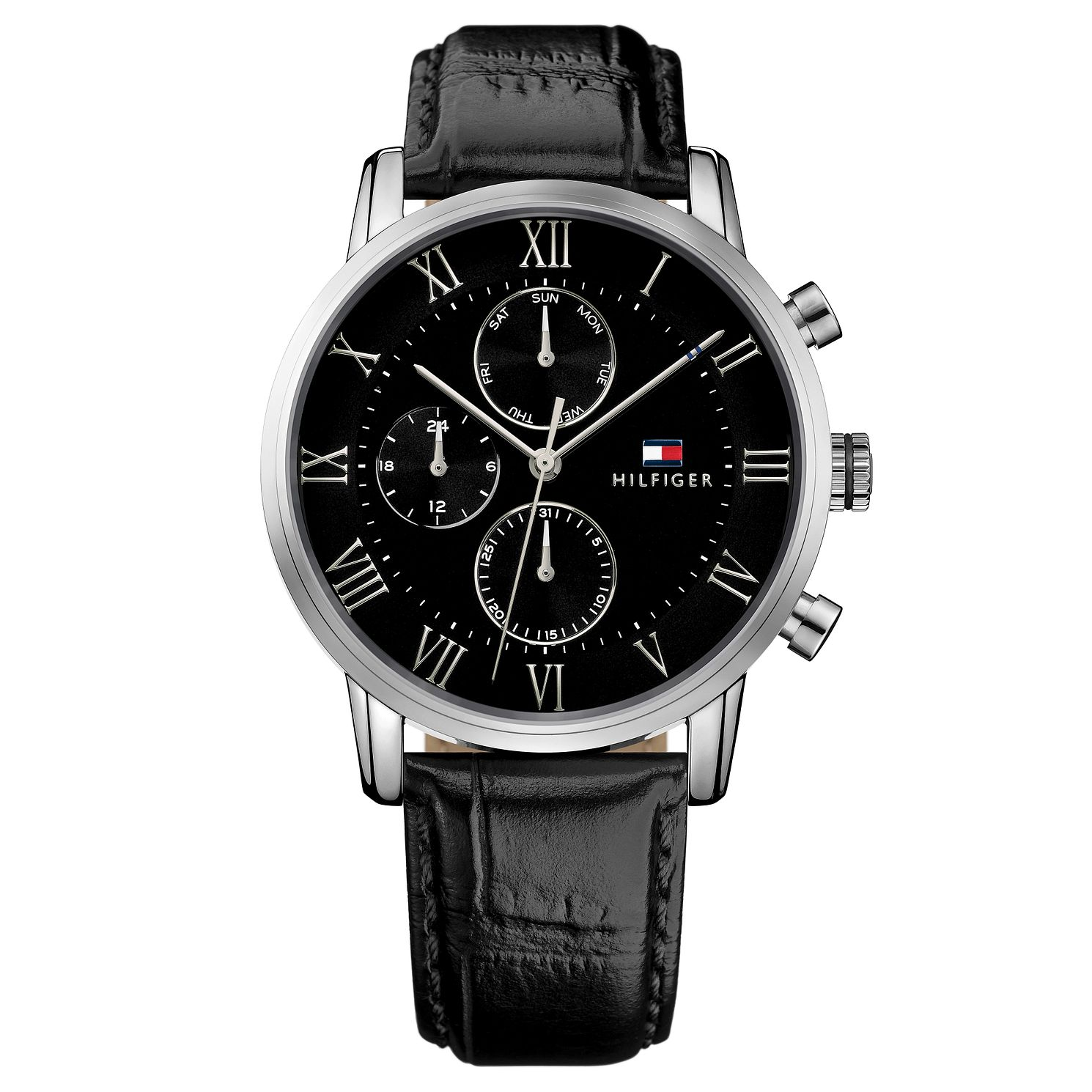 Tommy Hilfiger Kane Men's Black Leather Strap Watch - Product number 2323990