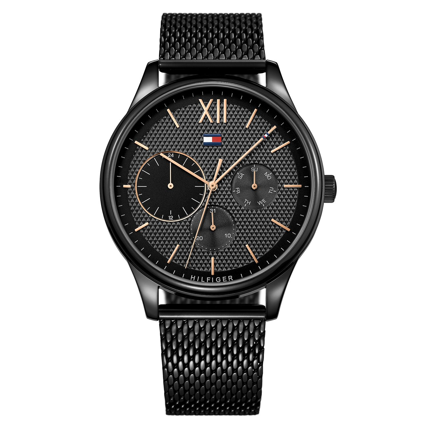 Tommy Hilfiger Damon Men's Black Ip Mesh Bracelet Watch - Product number 2324032