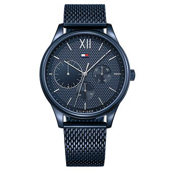Tommy Hilfiger Damon Men's Blue Ip Mesh Bracelet Watch - Product number 2324075