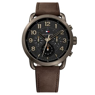 Tommy Hilfiger Briggs Men's Brown Leather Strap Watch - Product number 2324156