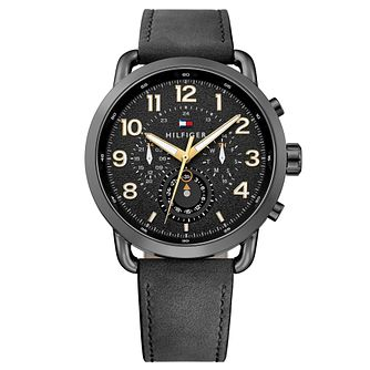 Tommy Hilfiger Briggs Men's Black Leather Strap Watch - Product number 2324180
