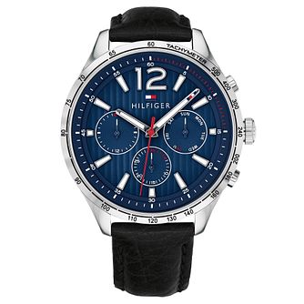 Tommy Hilfiger Gavin Men's Black Leather Strap Watch - Product number 2324229
