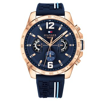 Tommy Hilfiger Decker Men's Black Rubber Strap Watch - Product number 2324415