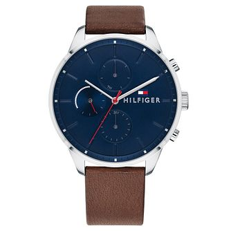 Tommy Hilfiger Chase Men's Brown Leather Strap Watch - Product number 2324539