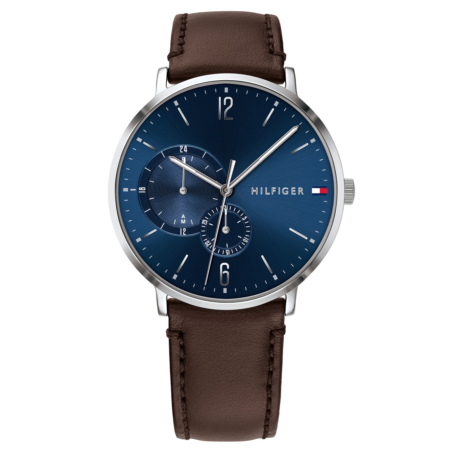 Tommy Hilfiger Brooklyn Men's Dark Brown Leather Strap Watch - Product number 2324970