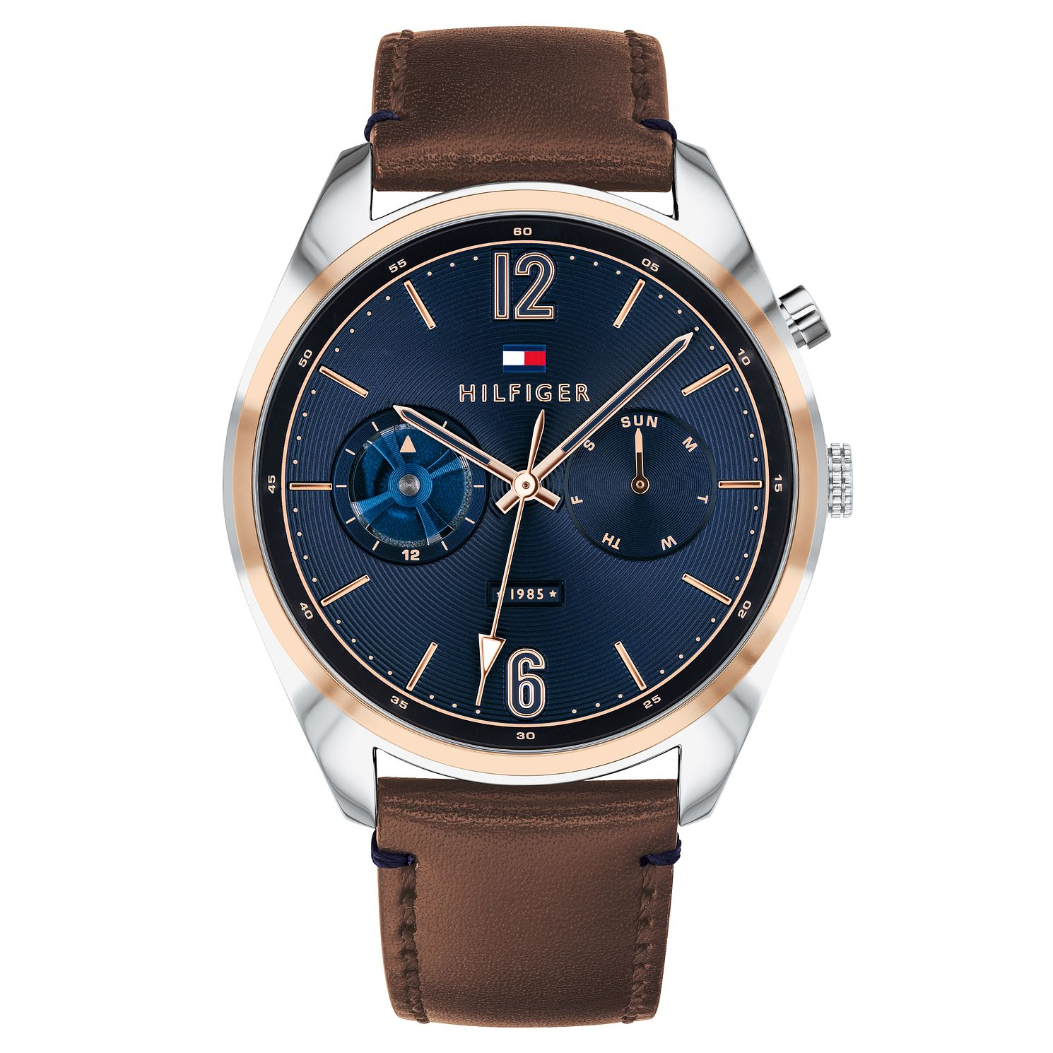 Tommy Hilfiger Deacan Men's Brown Leather Strap Watch - Product number 2325101