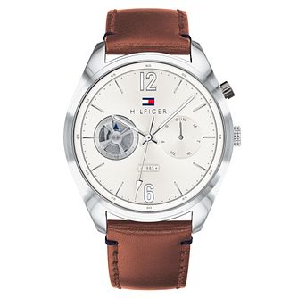 Tommy Hilfiger Deacan Men's Brown Leather Strap Watch - Product number 2325144