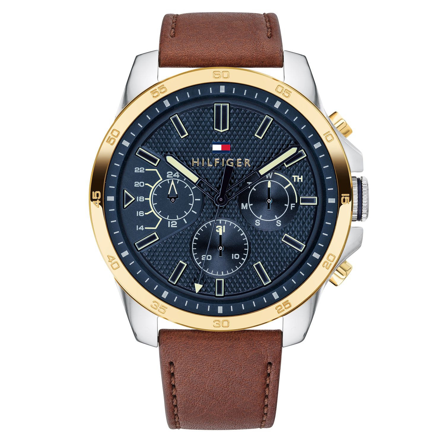 Tommy Hilfiger Decker Men's Light Brown Leather Strap Watch - Product number 2325233