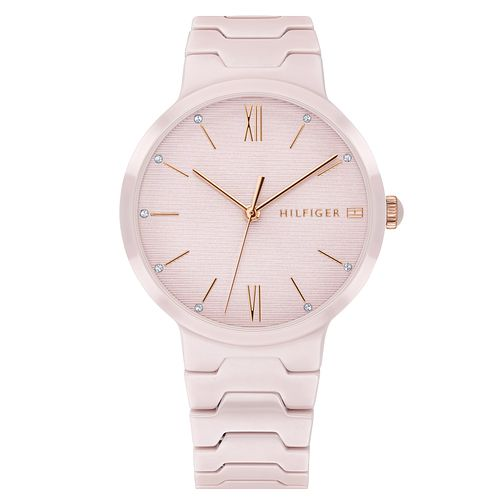 Tommy Hilfiger Avery Ladies' Pink Ceramic Bracelet Watch - Product number 2325241