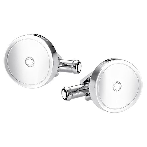 Montblanc stainless steel round cufflinks - Product number 2327619