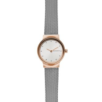 Skagen Freja Ladies' Two Tone Mesh Bracelet Watch - Product number 2328127