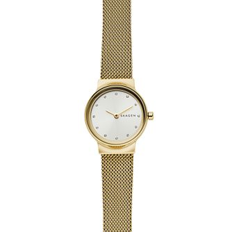 Skagen Freja Ladies' Yellow Gold Tone Mesh Bracelet Watch - Product number 2328135