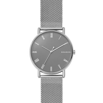 Skagen Signatur Men's Stainless Steel Mesh Bracelet Watch - Product number 2328208