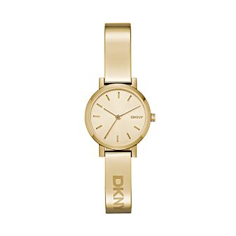 Dkny Soho Ladies' Yellow Gold Tone Bangle Watch - Product number 2328232