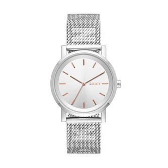 DKNY Soho Ladies' Stainless Steel Mesh Bracelet Watch - Product number 2328240