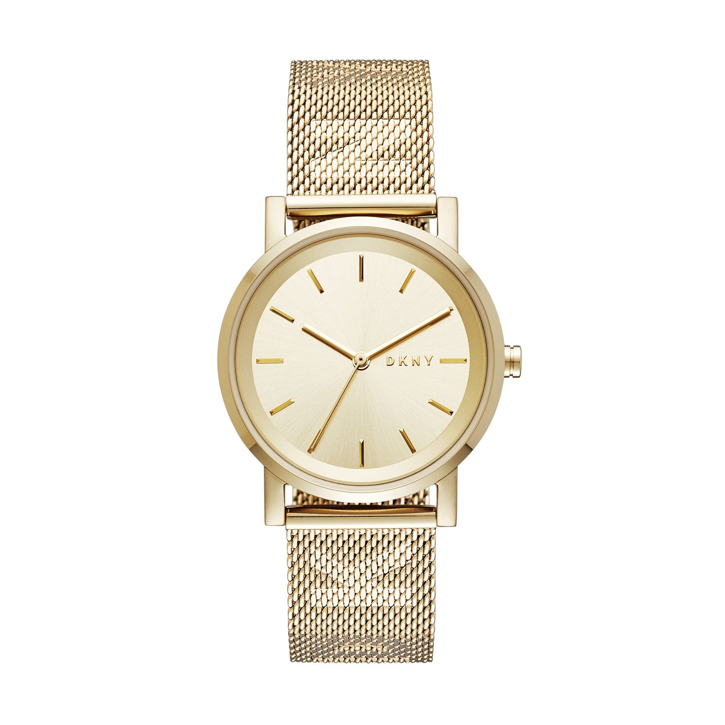 DKNY Soho Ladies' Yellow Gold Tone Mesh Bracelet Watch - Product number 2328259