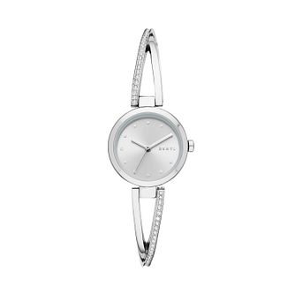 DKNY Crosswalk Crystal Ladies' Stainless Steel Bangle Watch - Product number 2328267