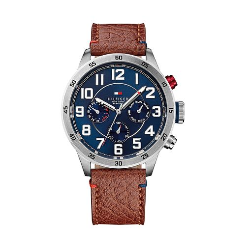 e143844f Tommy Hilfiger Men's Blue Dial Brown Leather Strap Watch - Product number  2329077