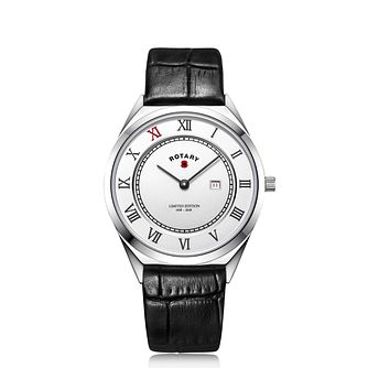 Rotary Men's The Royal British Legion Black Strap Watch - Product number 2330709