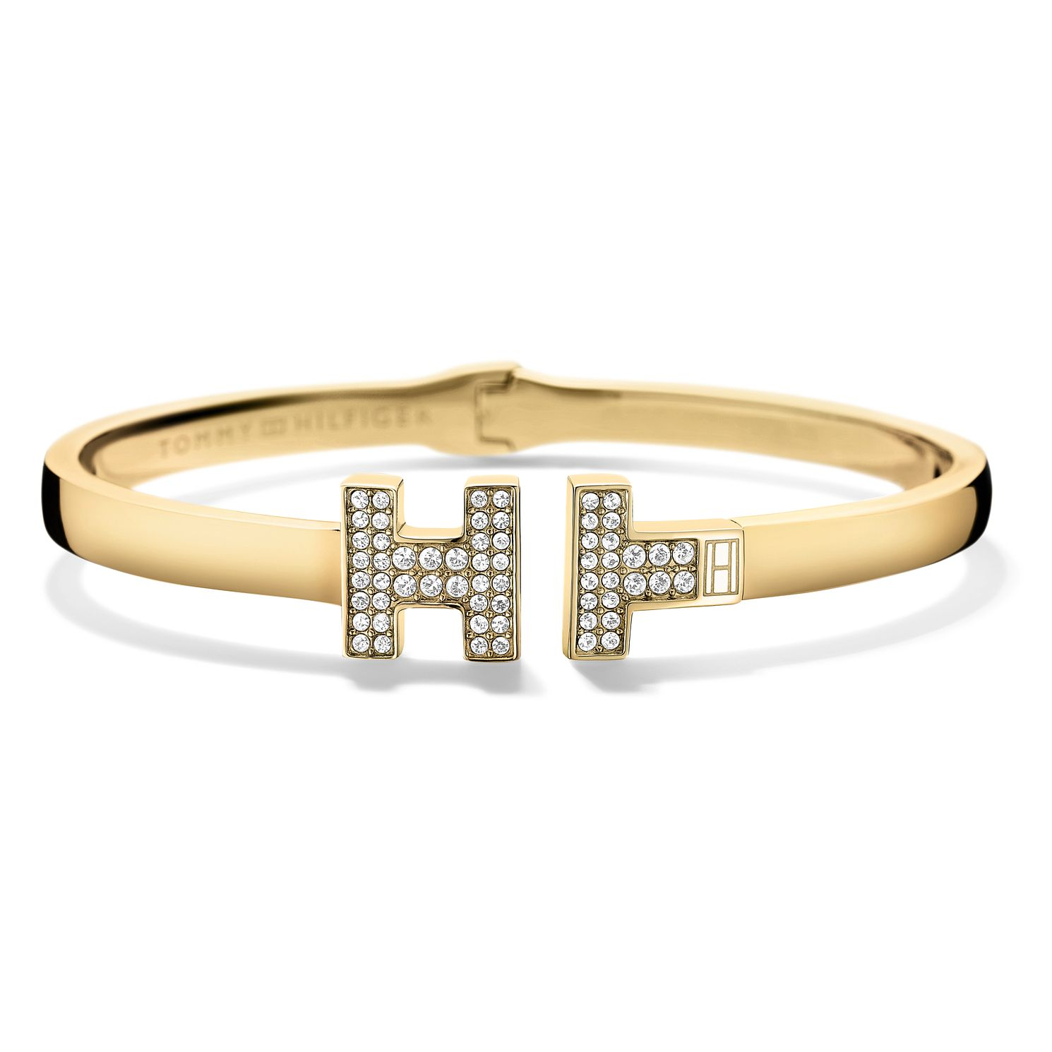 Tommy Hilfiger Ladies' Gold Plated & Crystal Set Th Bangle - Product number 2330776