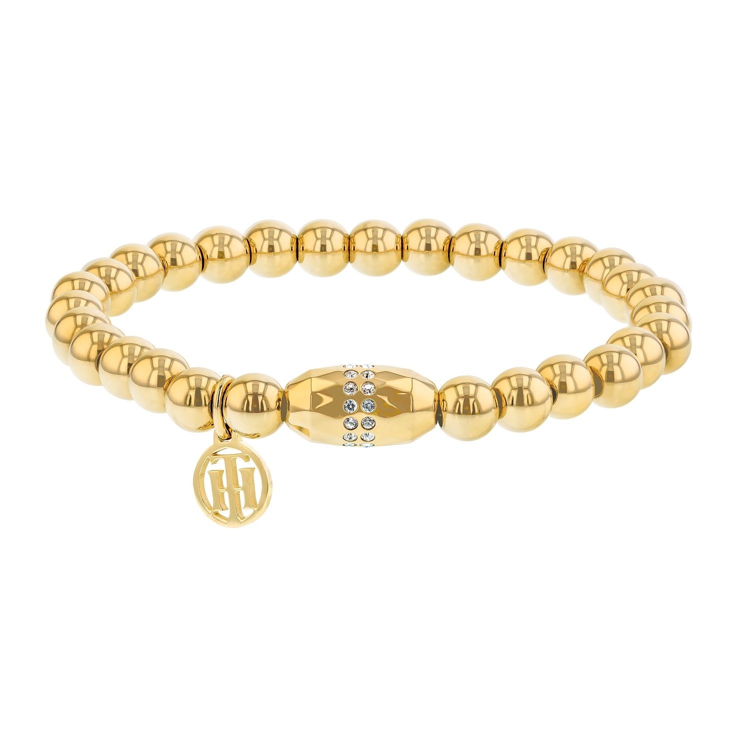 Tommy Hilfiger Ladies' Gold Plated Stretch Bead Bracelet - Product number 2330822