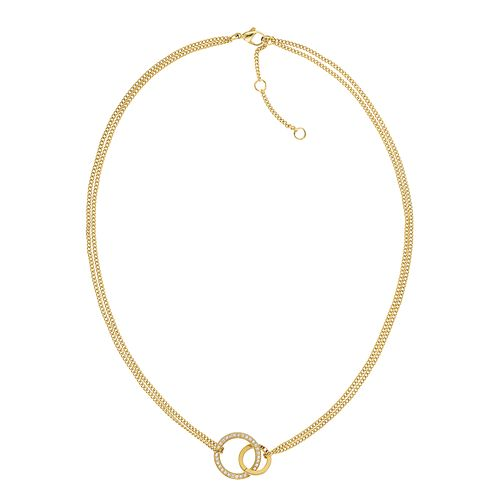 Tommy Hilfiger Ladies' Double Open Circle Crystal Necklace - Product number 2331071