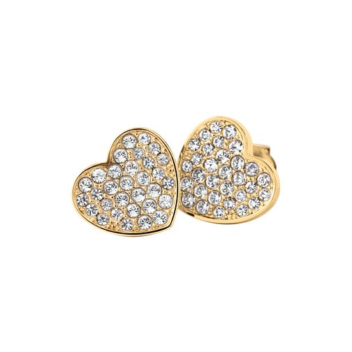 Tommy Hilfiger Ladies' Swarovski Pave Heart Stud Earrings - Product number 2331160