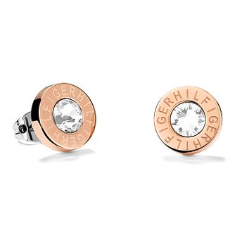 Tommy Hilfiger Ladies' Rose Gold Plated Round Stud Earrings - Product number 2331179